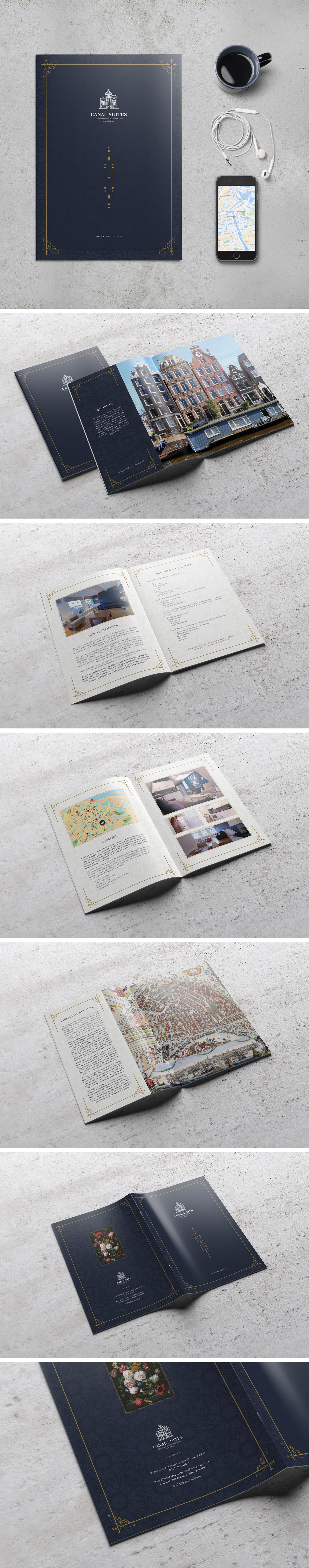Create an impressive and very unique flyer/brochure  for short stay apartments in Amsterdam