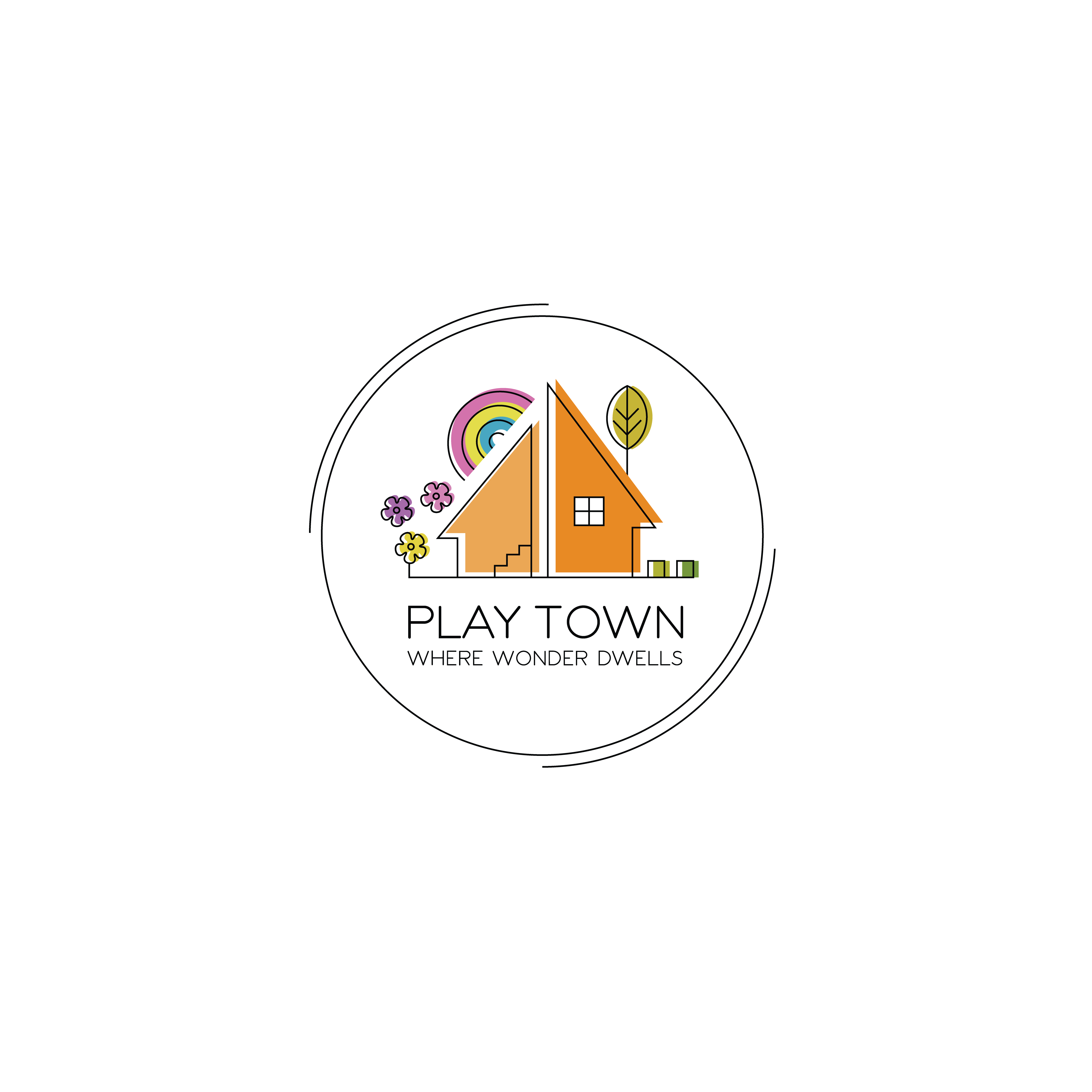 A logo to help families connect with nature & each other through play