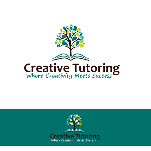 Logo for children's tutoring company promoting creativity and success