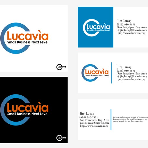 Lucavìa needs a new logo and business card