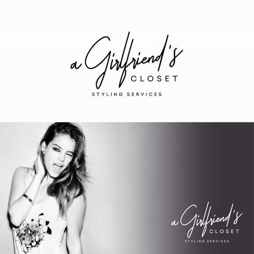 Fashion logo for a Girlfriend's Closet