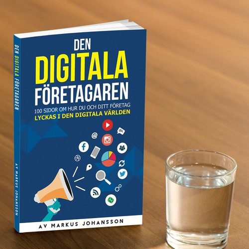 Inspiring book cover for digital marketing book - Den digitala företagaren
