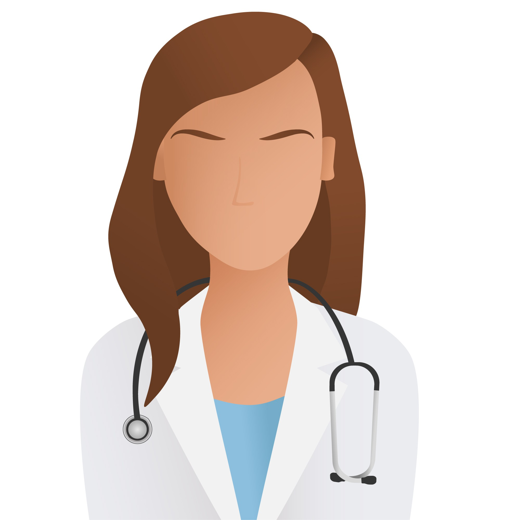 Design two simplistic MALE and FEMALE physician icons