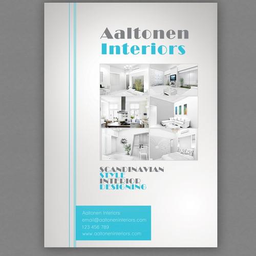 postcard or flyer for Aaltonen Interiors