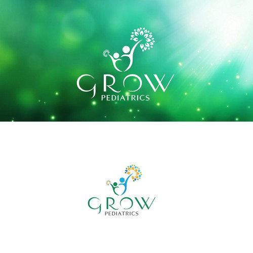 Grow Pediatrics logo design