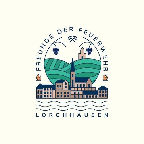 Monoline logo for a german town