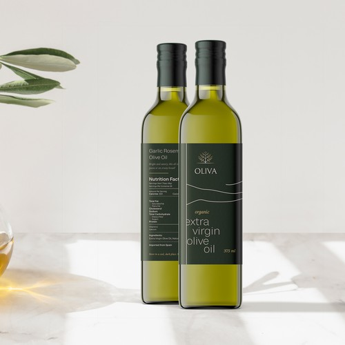Modern Minimalistic Design for an Olive Oil Brand