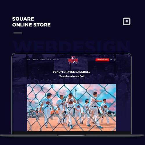 Baseball Square Online Full Site Design