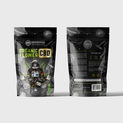 Design Packaging For CBD Hemp Flower Company