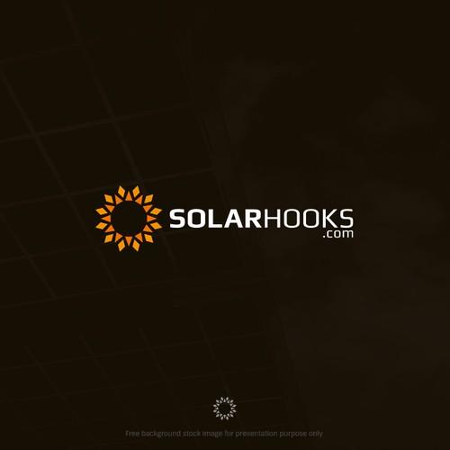 Modern geometric Sun logo