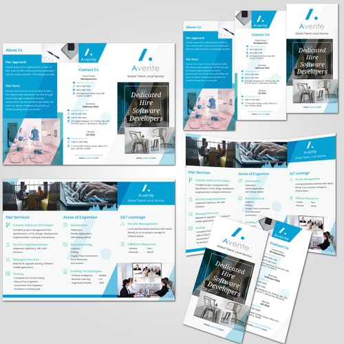 Modern Sophisticated Brochure Design