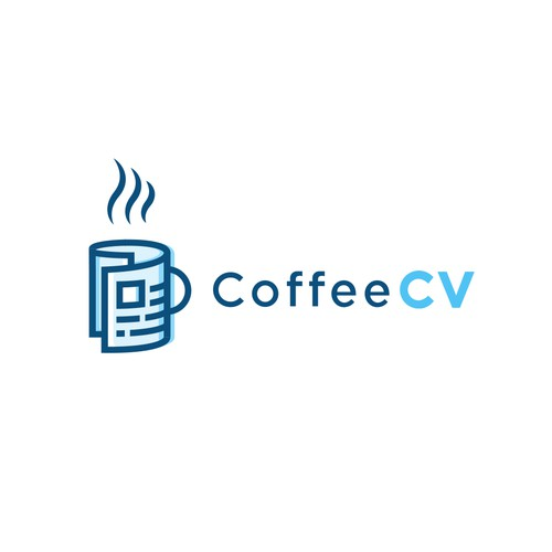 This coffee cv logo design for a online reviews and provides feedback on CVs.