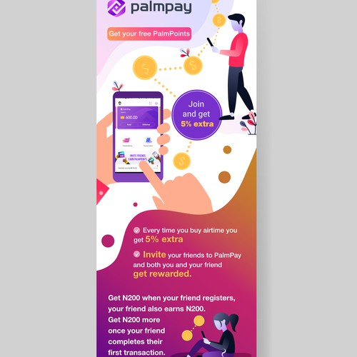 A modern and fresh roll-up banner