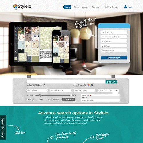 New landing page wanted for Styleio