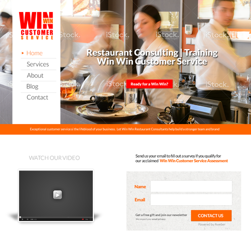 Restaurant consulting service website