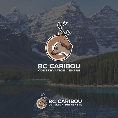 Logo concept for a caribou conservation center.
