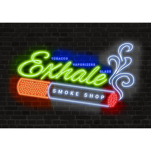 Retail store front sign for a Head Shop aka Smoke shop!  Get creative and think high!