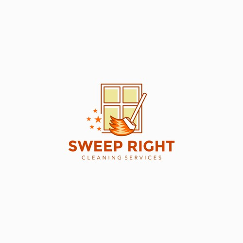 Logo design for cleaning services company