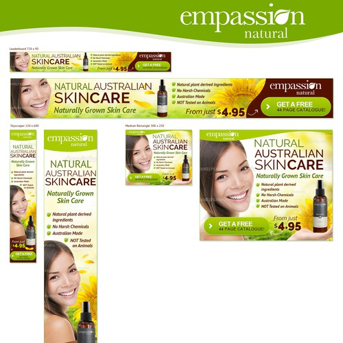 Banner Ads Design - Natural Skin Care