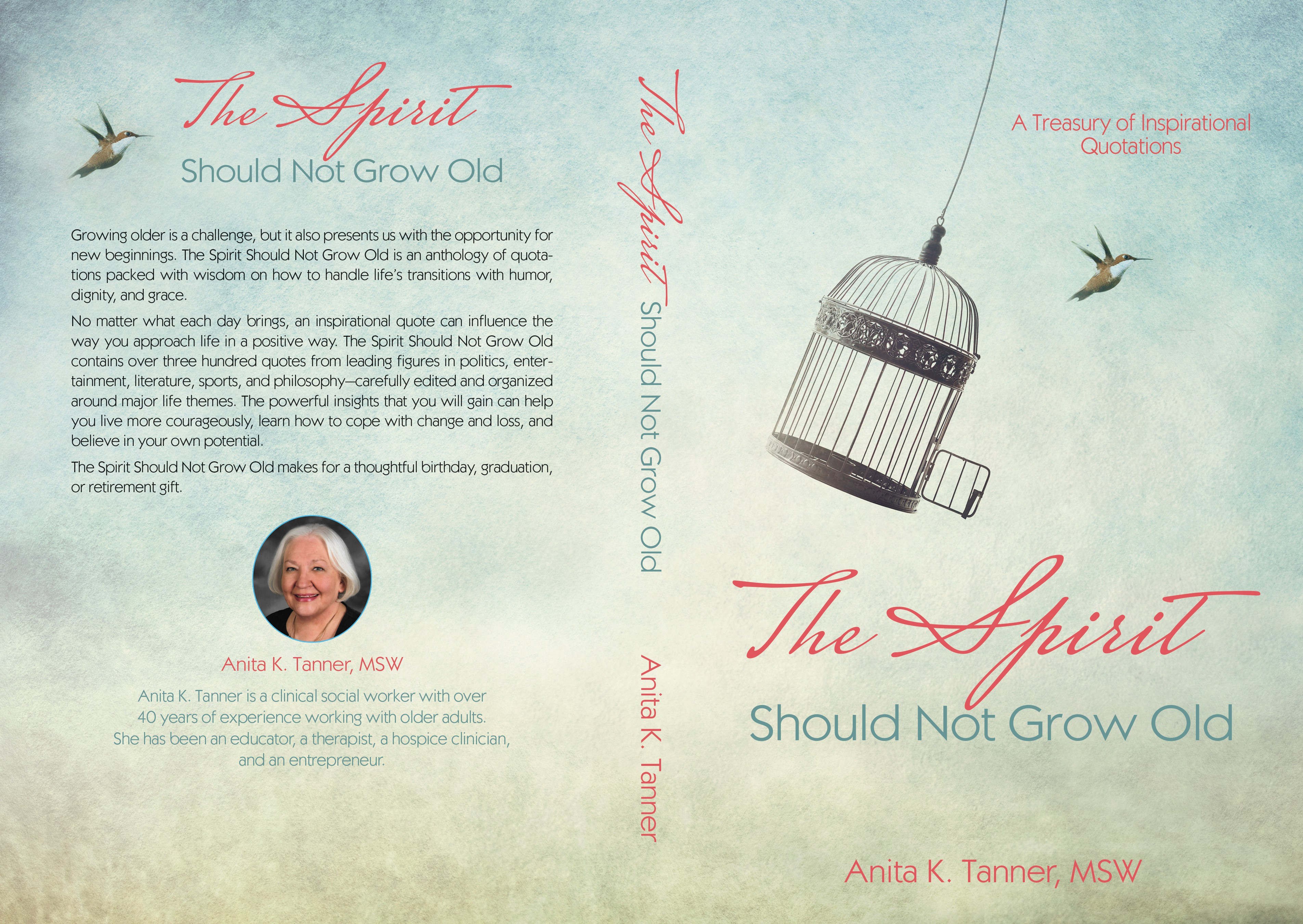 Create a modern book cover for a book of quotations