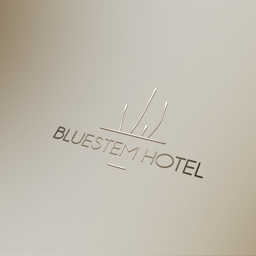 Minimal logo for a boutique hotel.