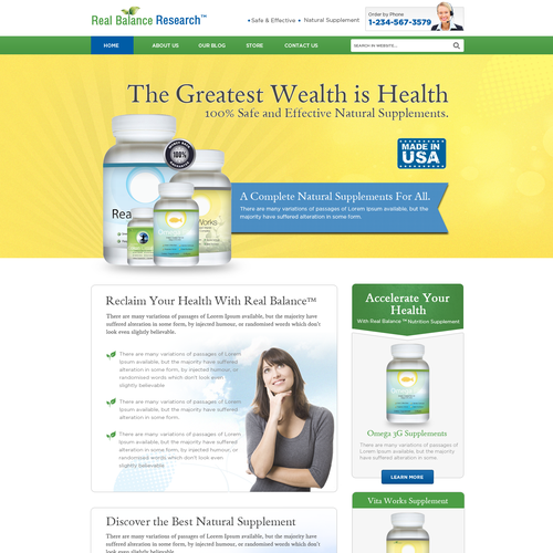 Create An Amazing Nutritional Supplement Website