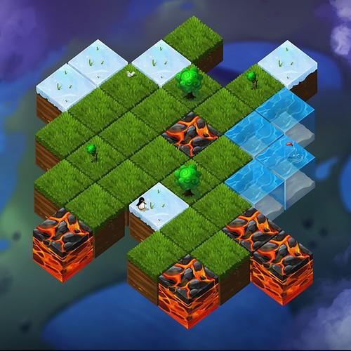Recreate Game Prototype Screenshot in New Hi-Res Art Style