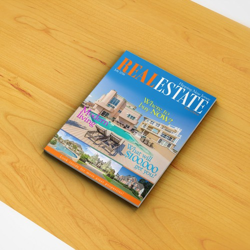 Real estate magazine cover page design