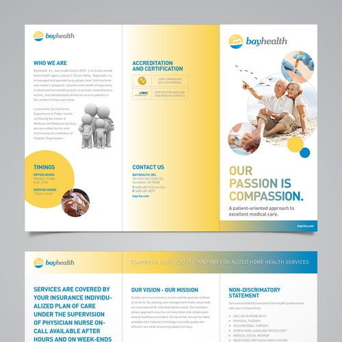 Create the next brochure design for Bayhealth Inc