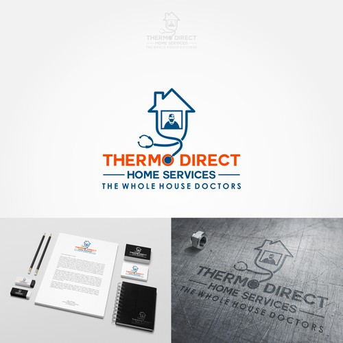 Logo concept for heating and cooling company