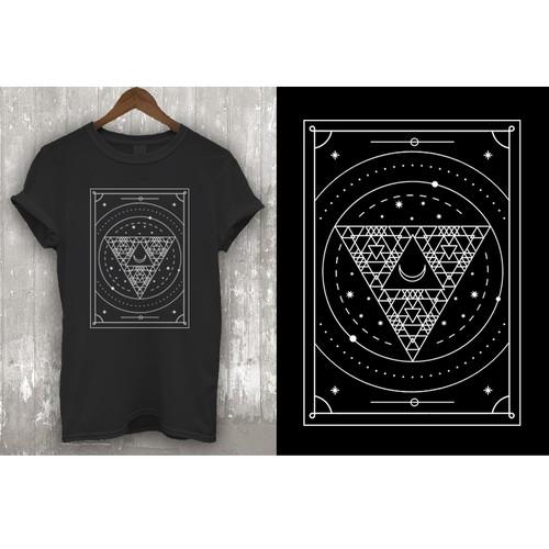 Minimalist Geometric Spiritual Design