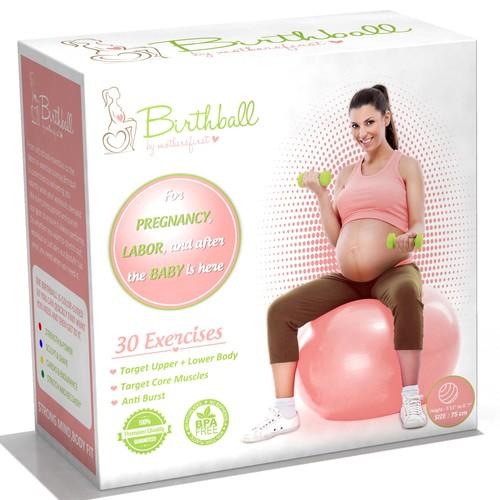 DESIGN FOR THE EXERCISE BALL FOR PREGNANT WOMEN