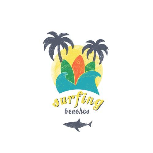 Surf T Shirt, vintage retro design