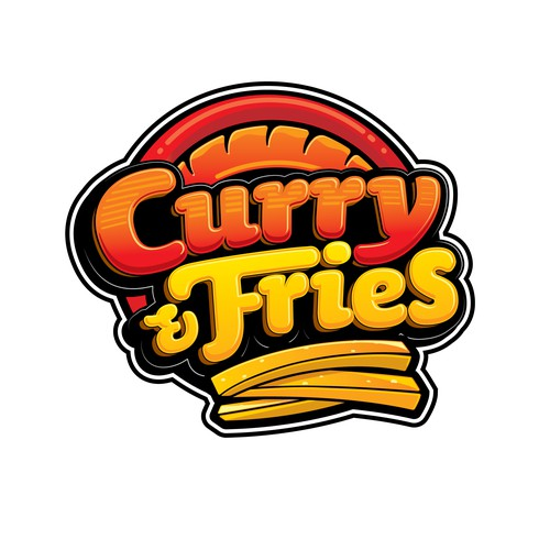 Curry & Fries. Logo for German Fast Food