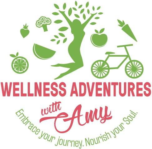 Create fun creative logo for wellness/weight-loss coach that embraces self-love, fruits and veggies, outdoor adventure