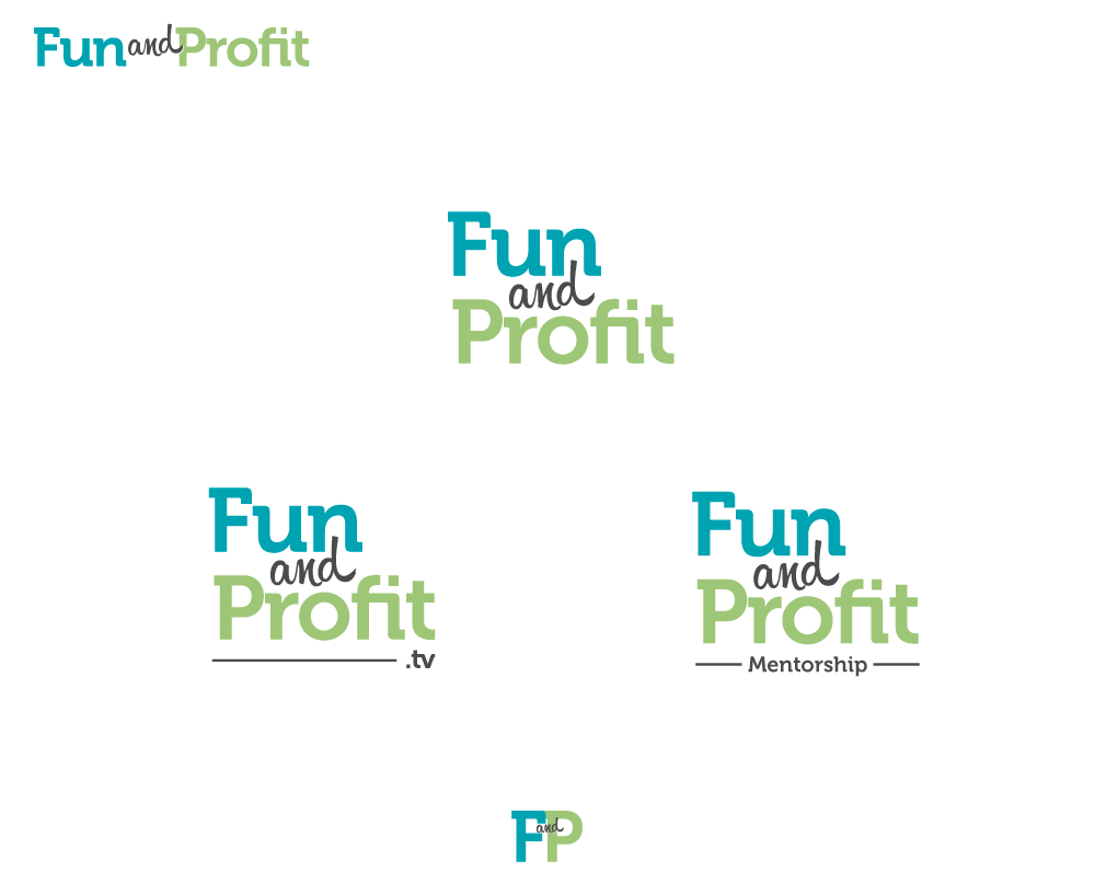 Create a logo for my new webcast series: Fun and Profit.tv