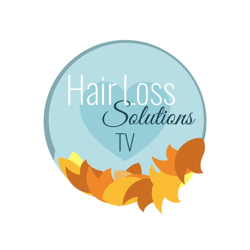Logo with heart for a company that advises on hair loss