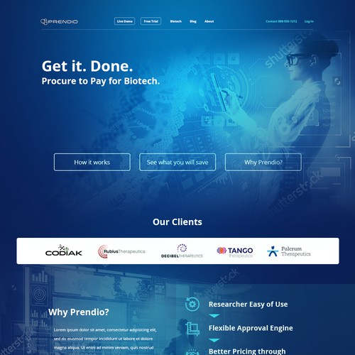 Web Design for Prendio