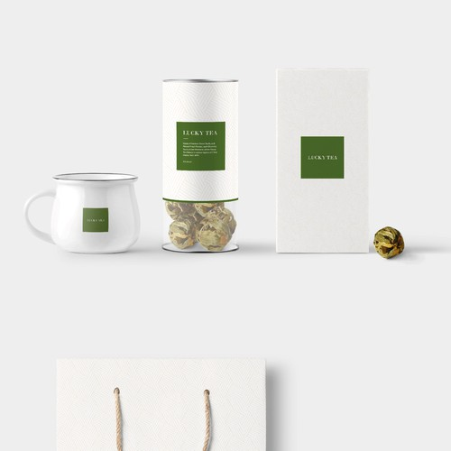 Packaging for tea company.
