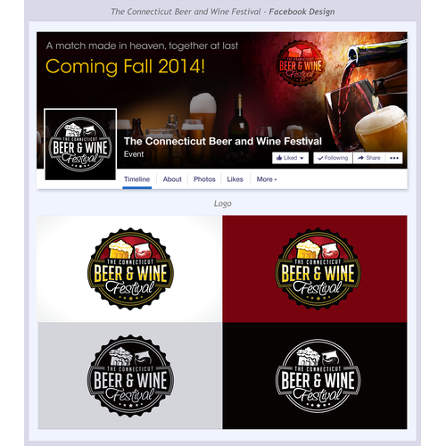 Facebook Cover Photo and Logo for new connecticut craft beer and wine festival