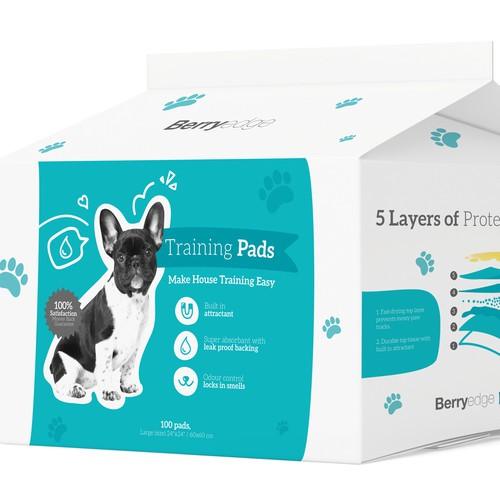 Create a Unique, Modern  Package Design for Training Pads (for puppies/dogs)