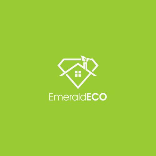Let's all go green! Create an environmental logo for EmeraldECO!