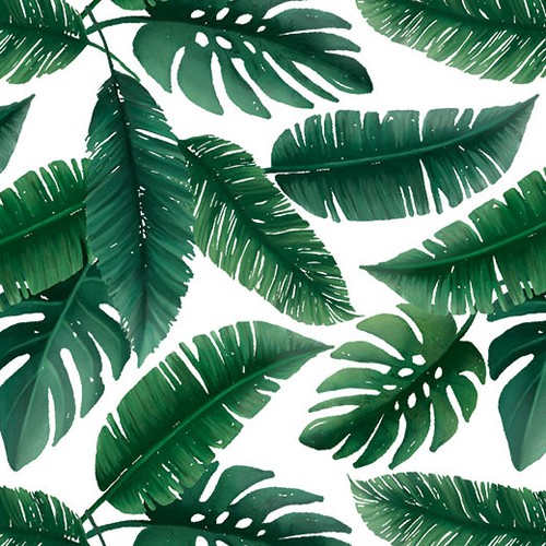Palm Leaf Swimsuit Fabric
