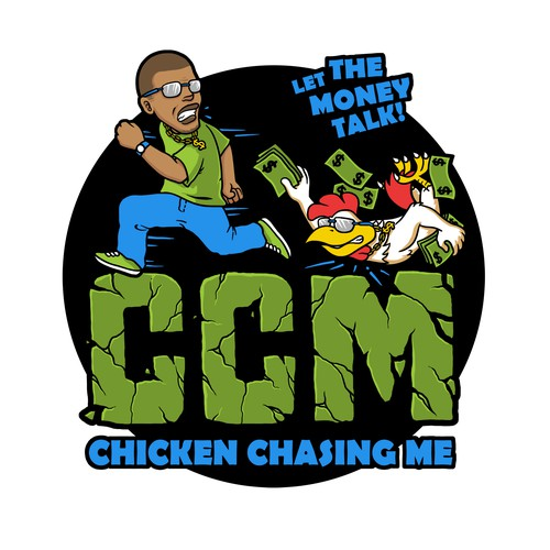 Cartoon character logo concept for CCM