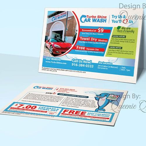 Postcard for Turbo Shine Car Wash