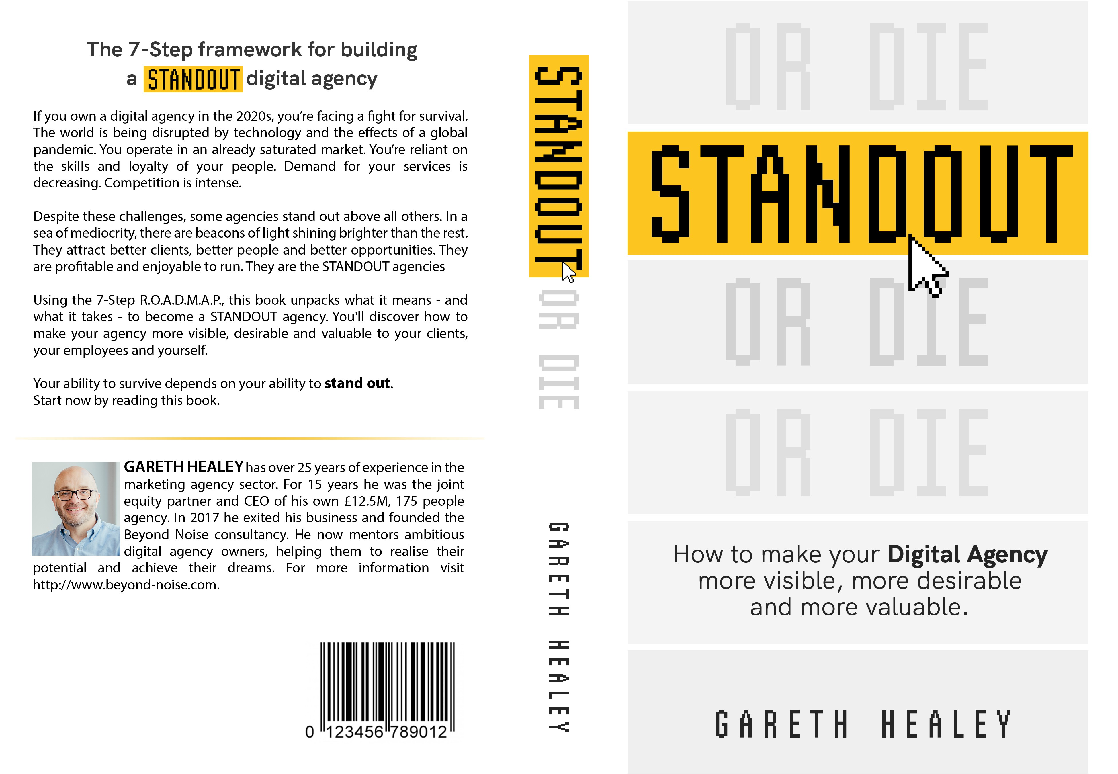 Book Cover design for business book aimed at digital marketing agency owners