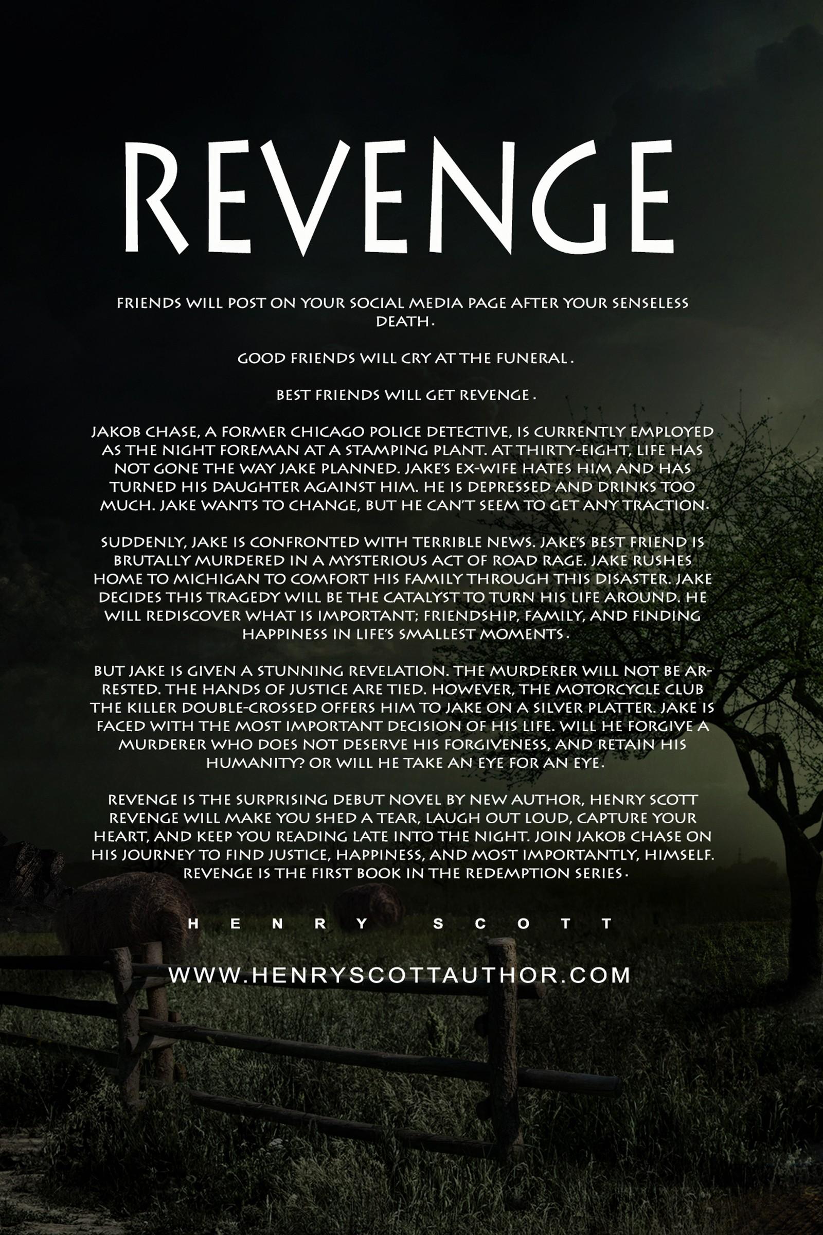 Create book cover for Revenge by Henry Scott