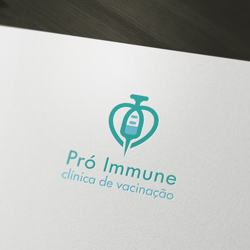 create a logo that conveys confidence and sophistication  to a clinical vaccine