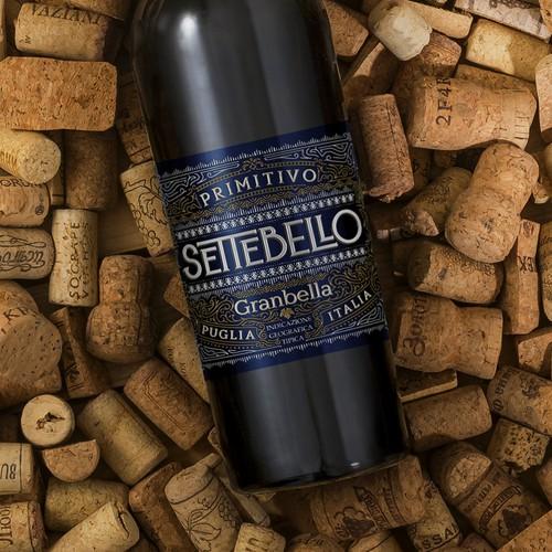 Settebello   Wine label