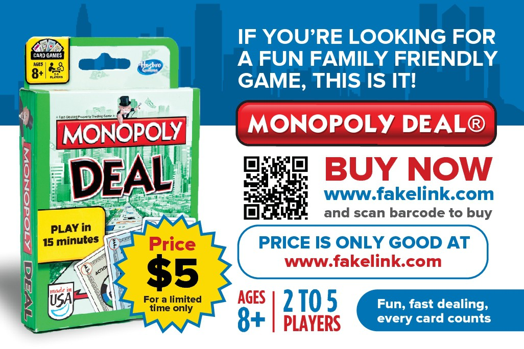 Postcard needed for Monopoly Deal game